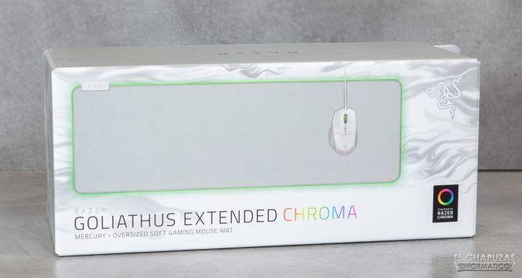 Razer Goliathus Extended Chroma Mercury - Embalaje frontal