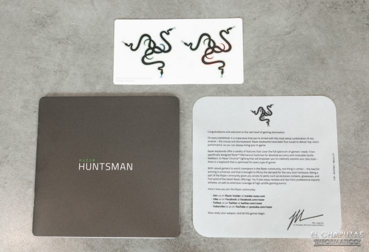 Razer Huntsman Mercury - Accesorios