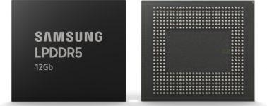 Samsung comienza la producción en masa de su memoria DRAM LPDDR5 de 12Gb para smartphones
