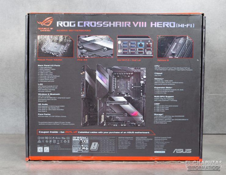 Asus ROG Crosshair VIII Hero (Wi-Fi) - Embalaje 2