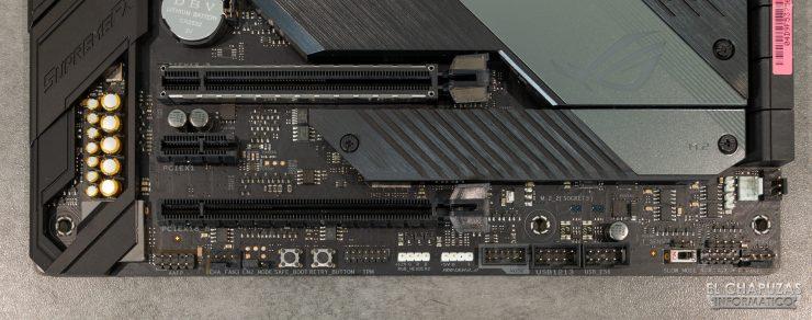 Asus ROG Crosshair VIII Hero (Wi-Fi) - conectores inferiores