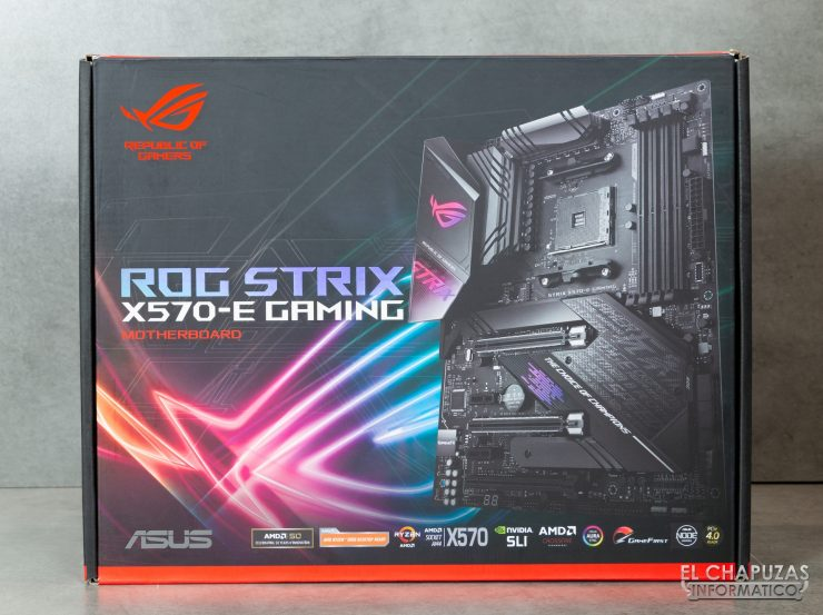 Asus ROG Strix X570-E Gaming - Embalaje frontal