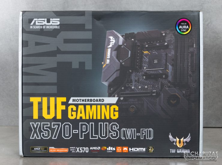Asus TUF Gaming X570-Plus (Wi-Fi) - Embalaje Frontal