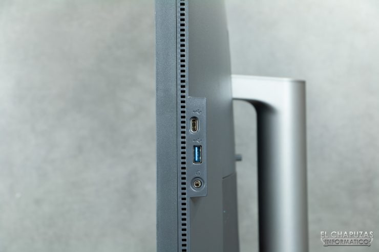 BenQ PD3220U - conectores lateral