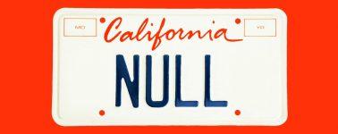 Un informático registra la matrícula 'NULL' como broma y ahora recibe miles de dólares en multas por error