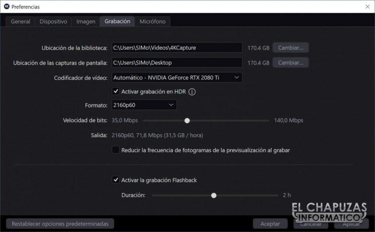 ElGato 4K60 Pro MK.2 - Software propiedades