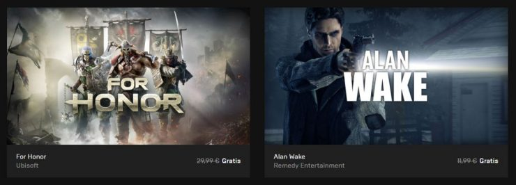 For Honor y Alan Wake gratis