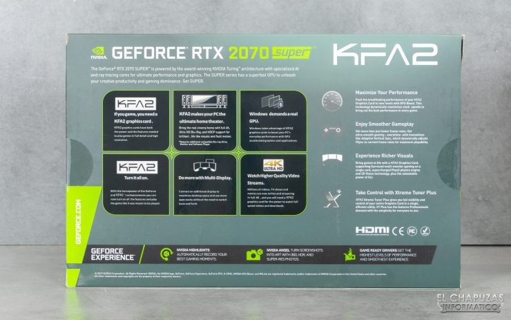 KFA2 GeForce RTX 2070 SUPER EX Gamer Black - Embalaje 2