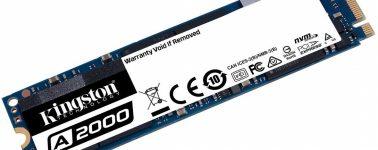 Kingston A2000: SSDs M.2 NVMe de gama media a precio agresivo