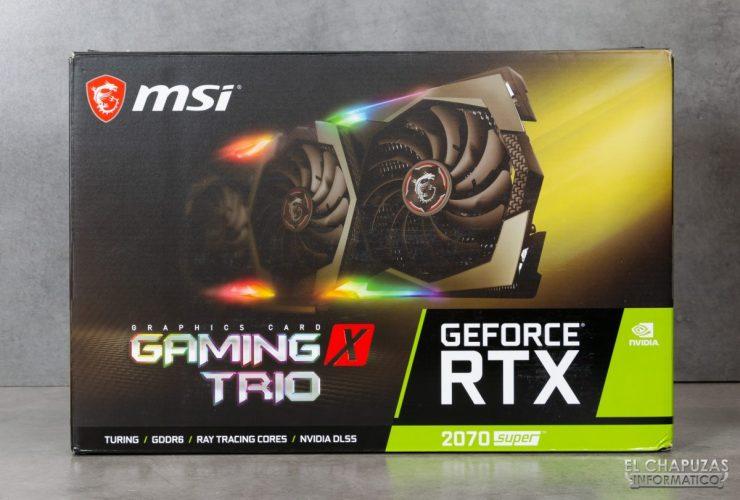 MSI GeForce RTX 2070 SUPER Gaming X Trio - Embalaje exterior 1