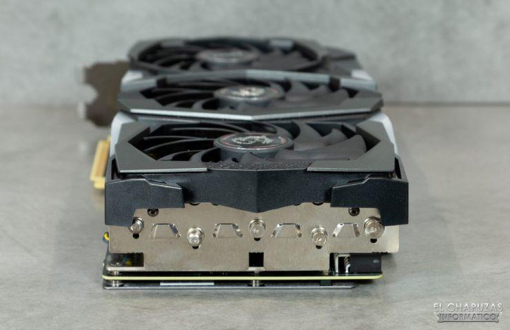 MSI GeForce RTX 2070 SUPER Gaming X Trio - Lado trasero