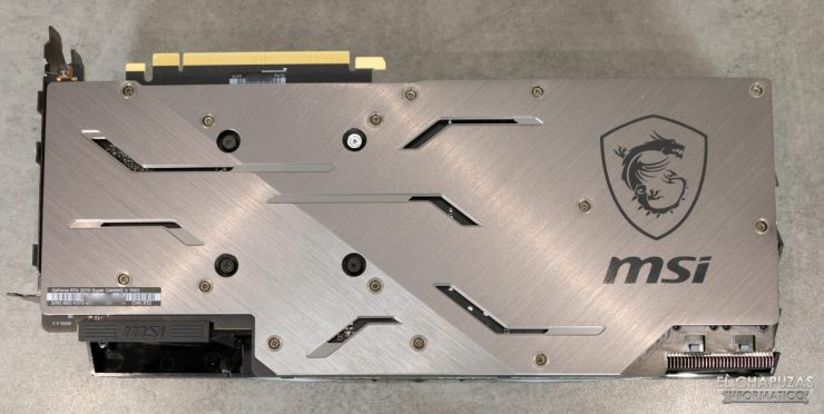 MSI GeForce RTX 2070 SUPER Gaming X Trio - Backplate