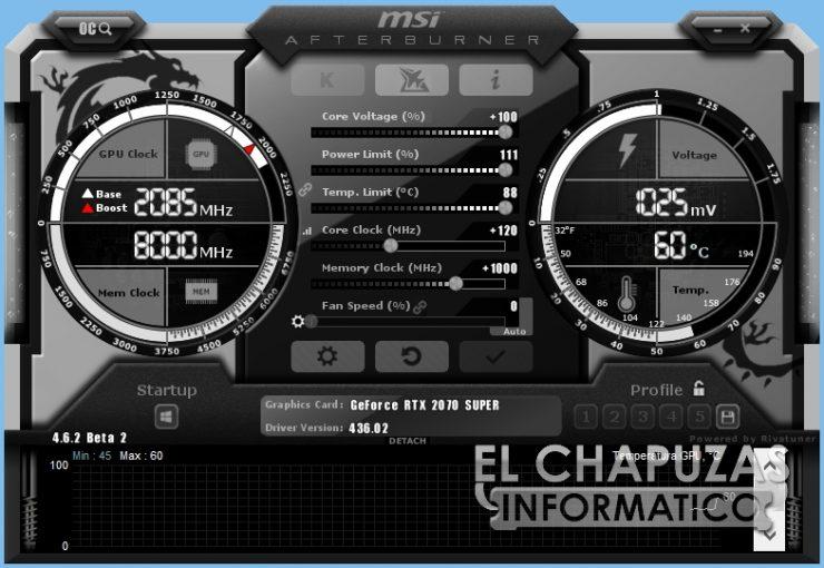 MSI GeForce RTX 2070 SUPER Gaming X Trio - Afterburner