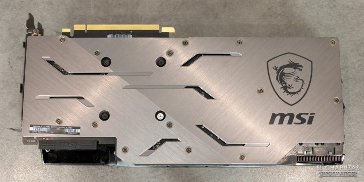 MSI GeForce RTX 2080 SUPER Gaming X Trio - Backplate