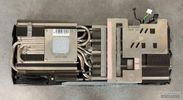 MSI GeForce RTX 2080 SUPER Gaming X Trio - Disipador desmontado