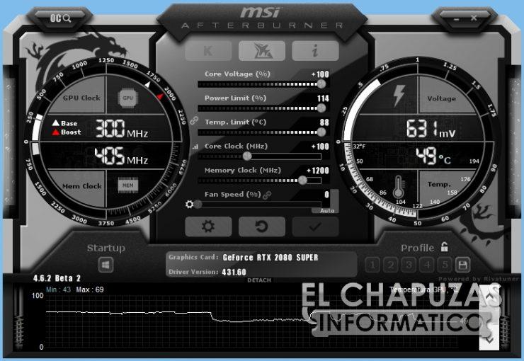 MSI GeForce RTX 2080 SUPER Gaming X Trio - Afterburner