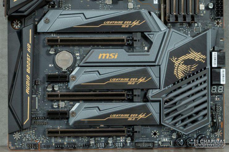 MSI MEG X570 ACE - Slots PCIe 4.0