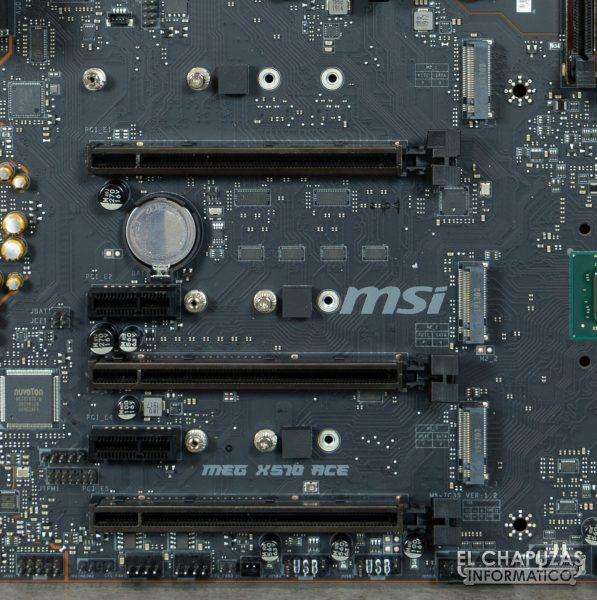MSI MEG X570 ACE - Slots M.2 PCIe 4.0