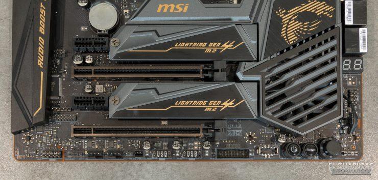 MSI MEG X570 ACE - Conectores margen inferior