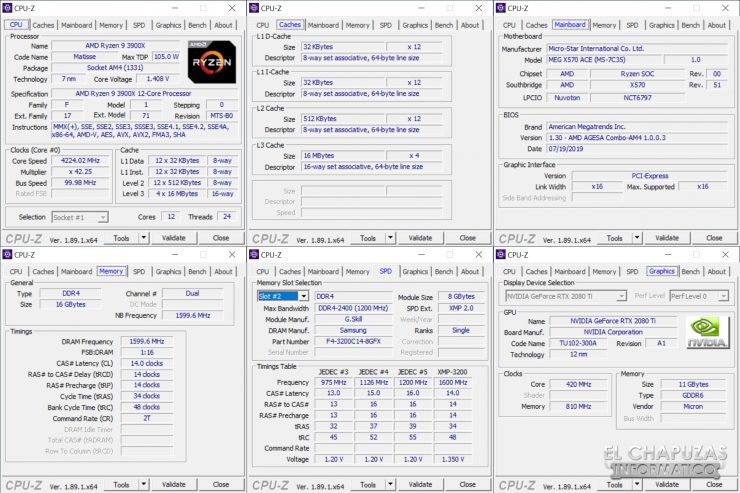 MSI MEG X570 ACE - CPU-Z