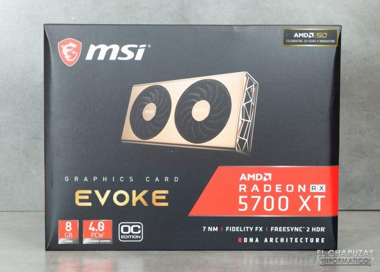 MSI Radeon 5700 XT Evoke - Embalaje 1