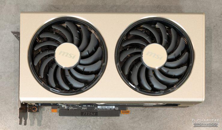 MSI Radeon 5700 XT Evoke - Vista superior