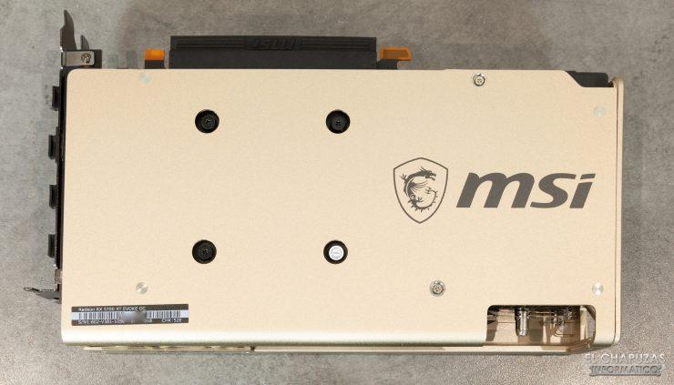 MSI Radeon 5700 XT Evoke - Backplate