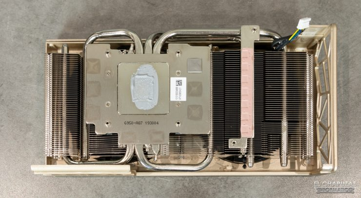 MSI Radeon 5700 XT Evoke - Disipador desmontado