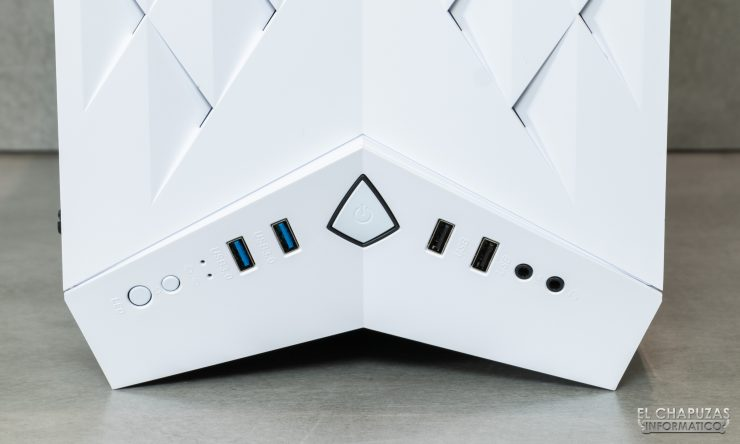 Nfortec Hyperion - Botones y conectores