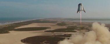 SpaceX prueba con éxito el primer salto de 150 metros de la nave Starhopper