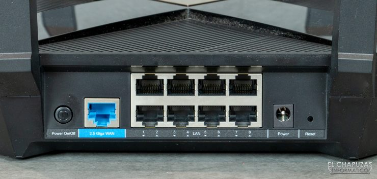 TP-Link Archer AX6000 - Conectores WAN-LAN