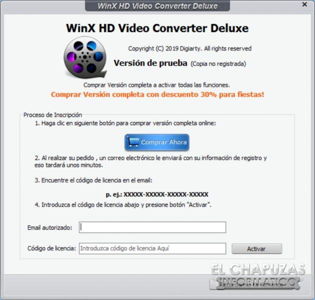 WinX HD Video Converter Deluxe - Licencia