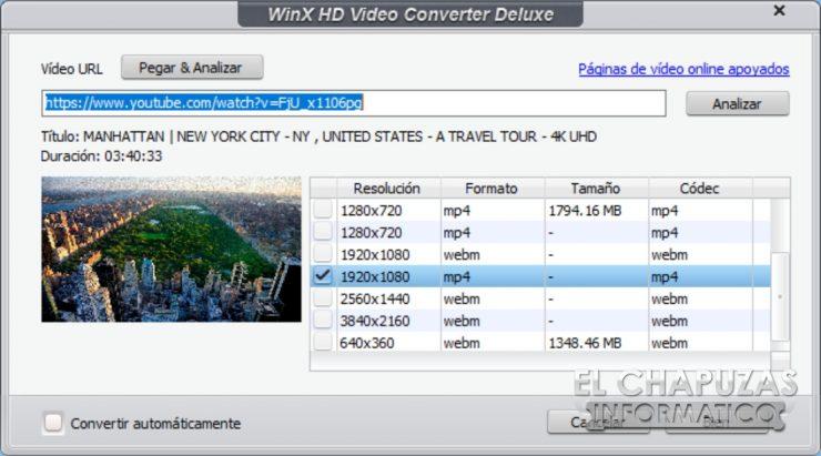 WinX HD Video Converter Deluxe - Youtube