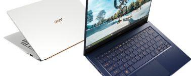 Acer Swift 5: 14″ con Intel Ice Lake @ 10nm y GPU Nvidia en 990 gramos de peso
