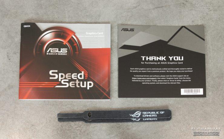 Asus ROG Strix Radeon 5700 XT - Accesorios