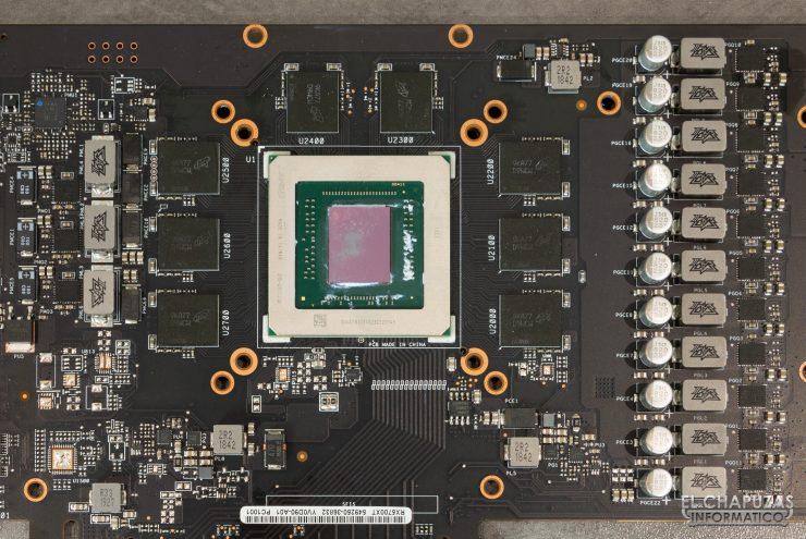 Asus ROG Strix Radeon 5700 XT - Núcleo, memorias y VRM