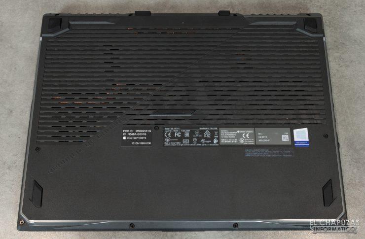 Asus ROG Strix SCAR III G531GW - Base