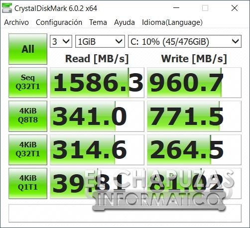 Asus ROG Strix SCAR III G531GW - CrystalDiskMark