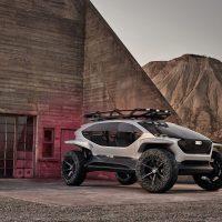 Audi muestra su nuevo prototipo de vehículo eléctrico: un todoterreno con drones en lugar de faros
