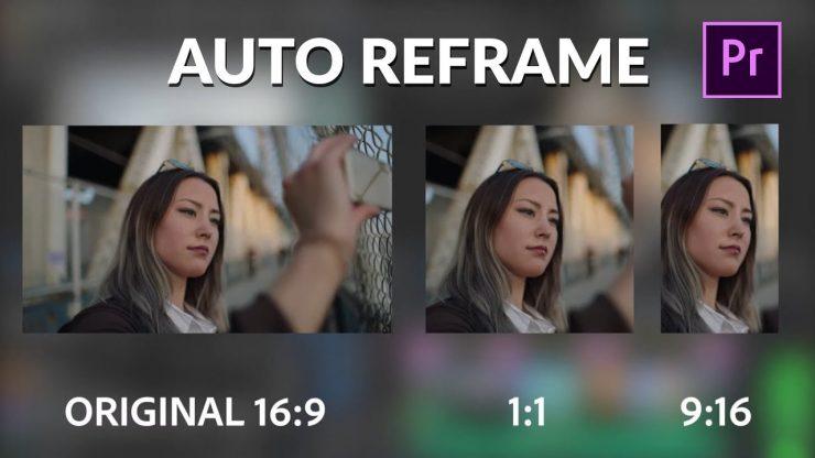 Adobe Premiere Pro con Auto Reframe