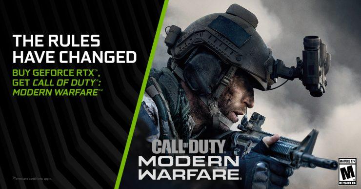 Call of Duty: Modern Warfare gratis con una Nvidia GeForce RTX