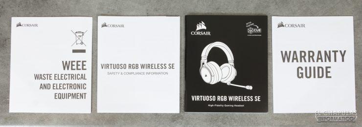 Corsair Virtuoso RGB Wireless SE - Documentación