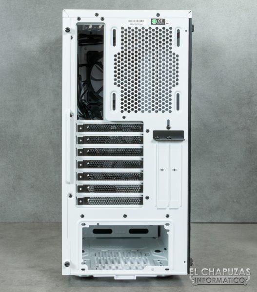 Corsair iCUE 465X RGB - Lado trasero