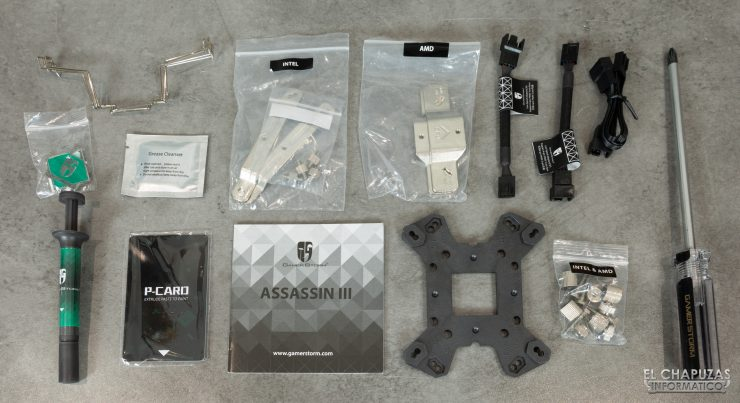 DeepCool GamerStorm Assassin III - Accesorios