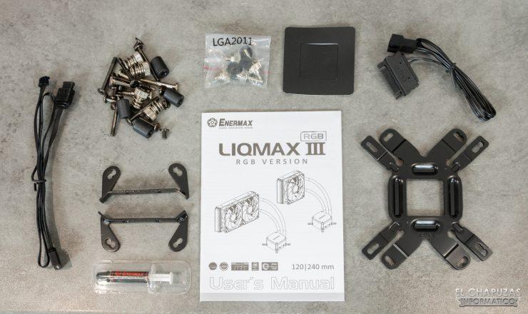 Enermax Liqmax III RGB 120 - Accesorios