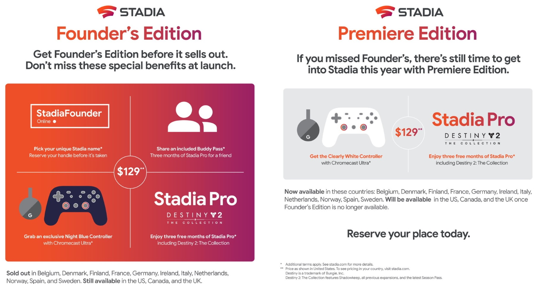 Google Stadia Founders Edition vs Stadia Premiere Edition 0