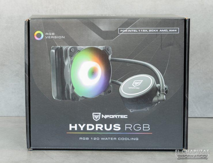 Nfortec Hydrus RGB 120 - Embalaje frontal