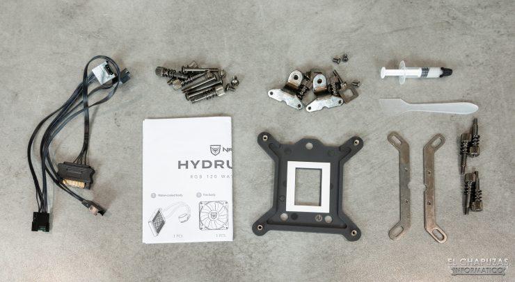 Nfortec Hydrus RGB 120 - Accesorios