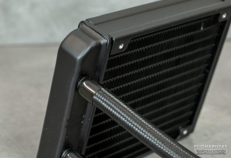 Nfortec Hydrus RGB 120 - Radiador - Salida tubos