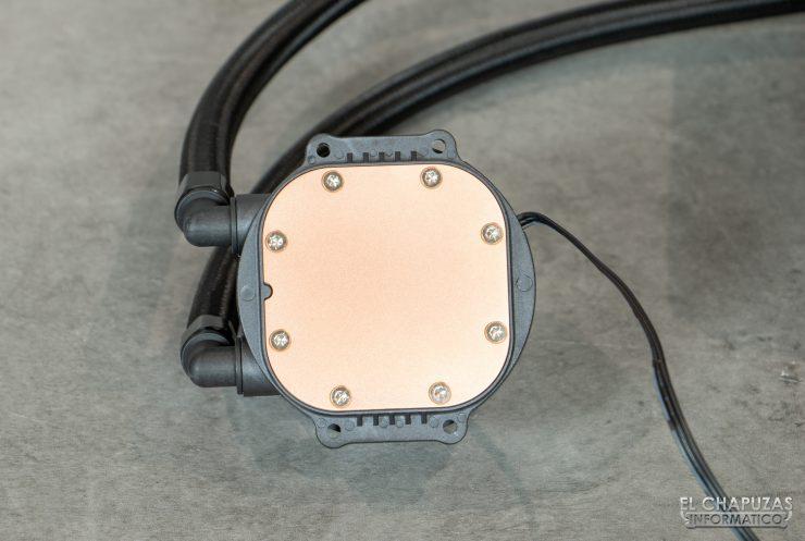 Nfortec Hydrus RGB 120 - Base de cobre